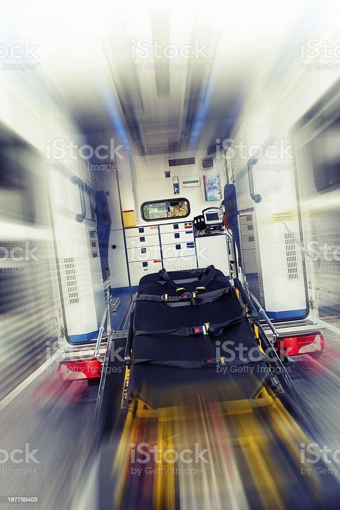 Modern ambulance royalty-free stock photo