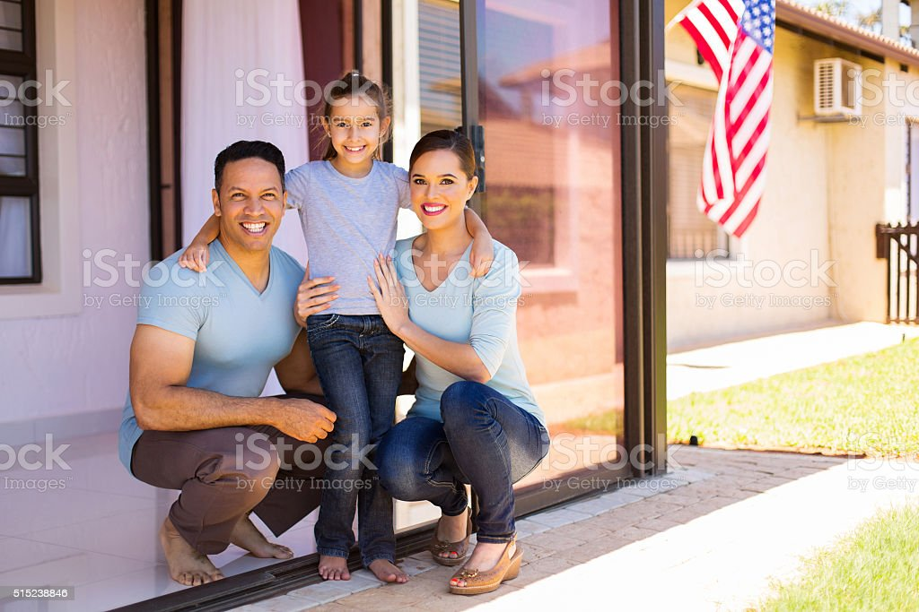 modern american family stock photo