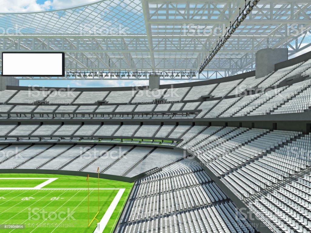 Modern American football Stadium with white seats stock photo