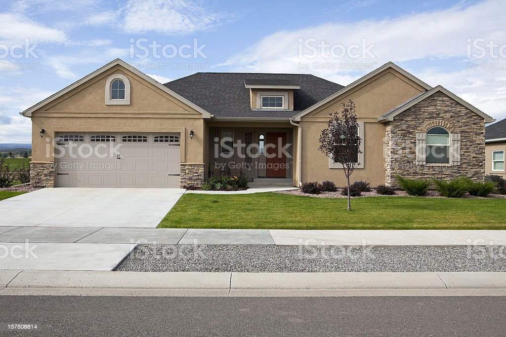 Modern American Home royalty-free stock photo