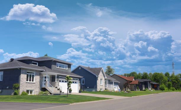 Modern American Houses Modern American Residential District residential district stock pictures, royalty-free photos & images