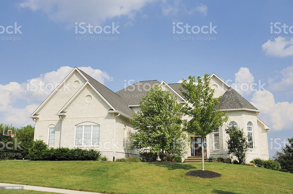 Modern American Single Family Luxury Home in Indianapolis Indiana Suburb stock photo
