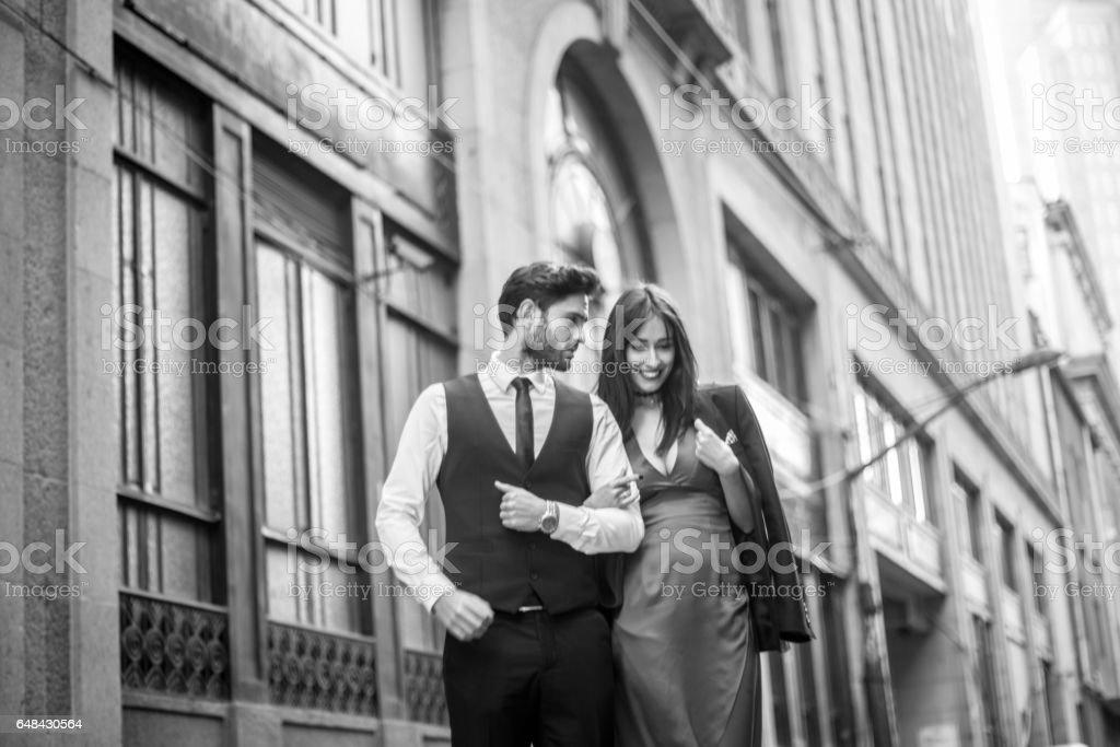 Modern and beautiful couple stock photo