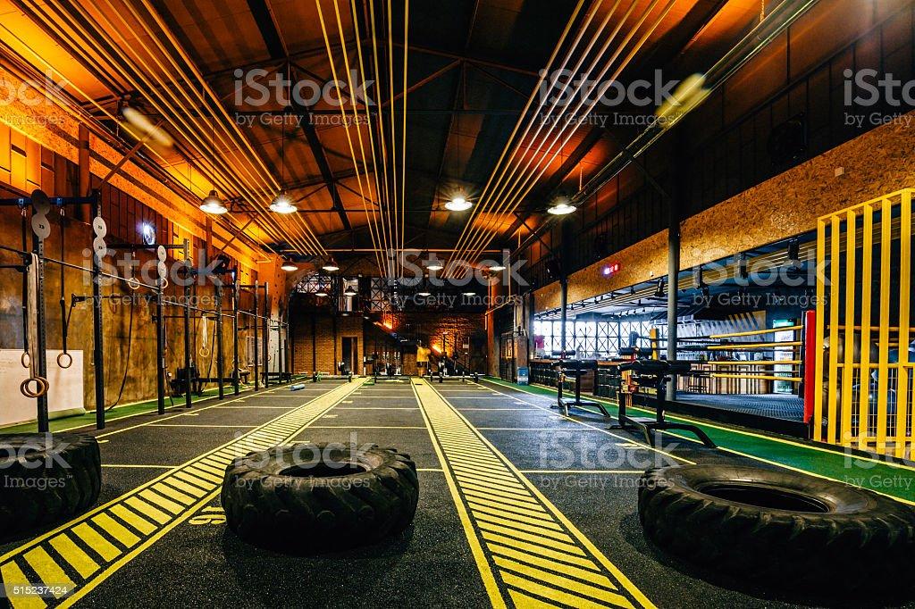Modern and Big Gym stock photo