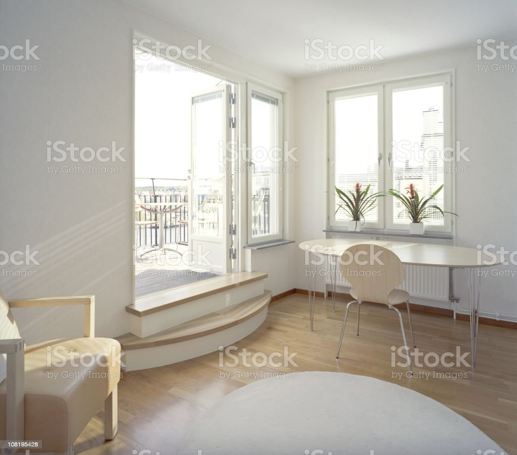 Modern and Clean Interior of Home stock photo