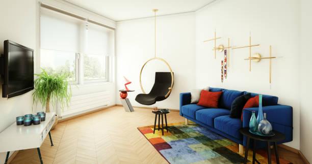 Modernes und gemütliches Wohnzimmer – Foto