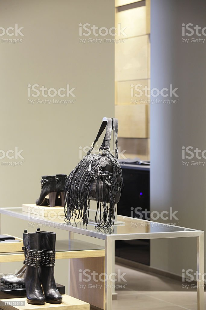 modern and fashion clothes store royalty-free stock photo