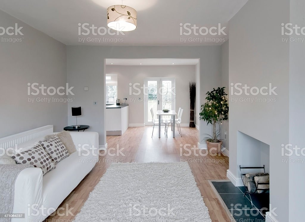 Modern and lightened lounge area royalty-free stock photo