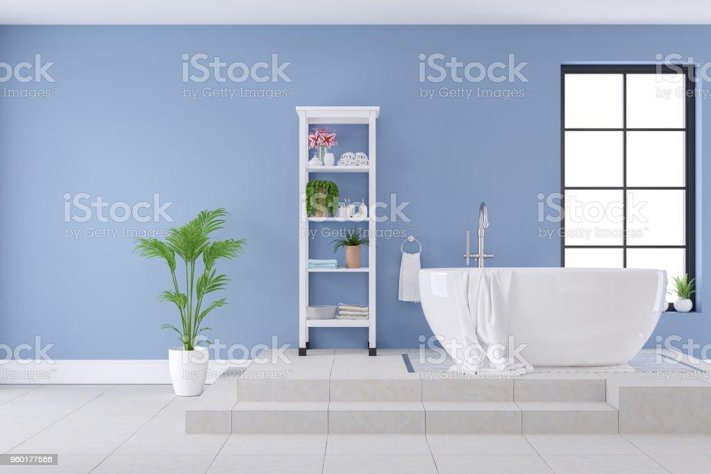 Moderne Und Luxus Badezimmer Interior Design Weiße Badewanne ...