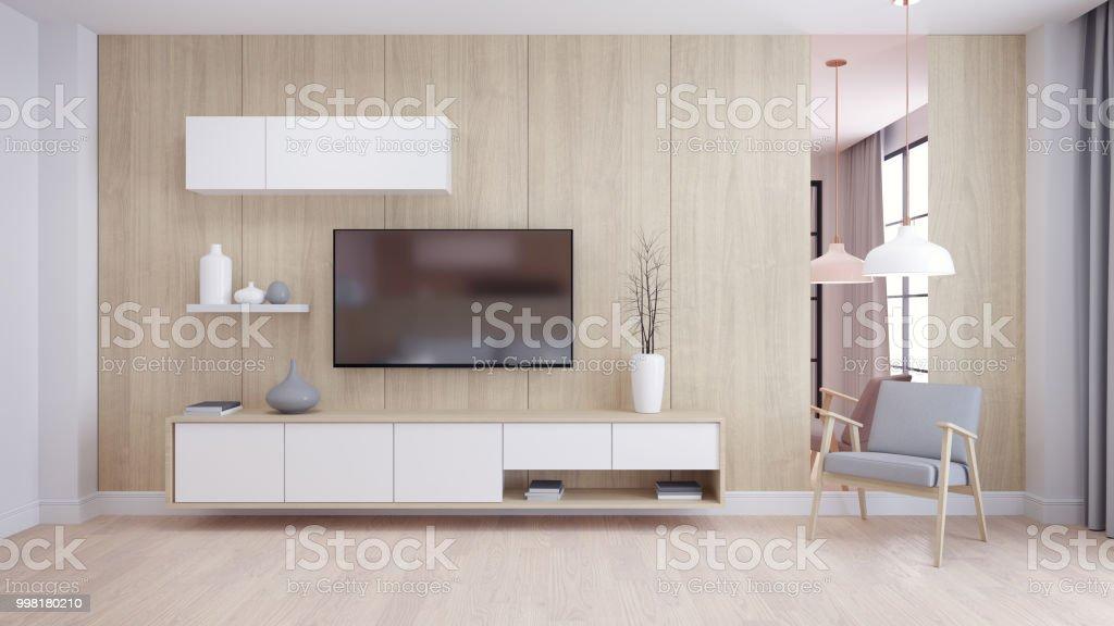 Modern en minimalistisch interieur van woonkamer gezellige kamer en