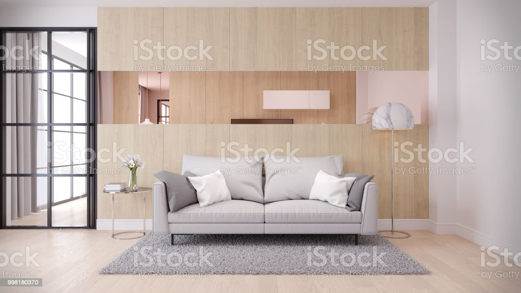 Moderne Und Minimalistische Einrichtung Wohnzimmer ...