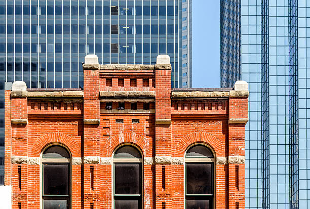 Modern and Old Architecture in Dallas stock photo