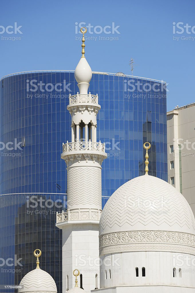 Modern and traditional architecture in Dubai, United Arab Emirates stock photo
