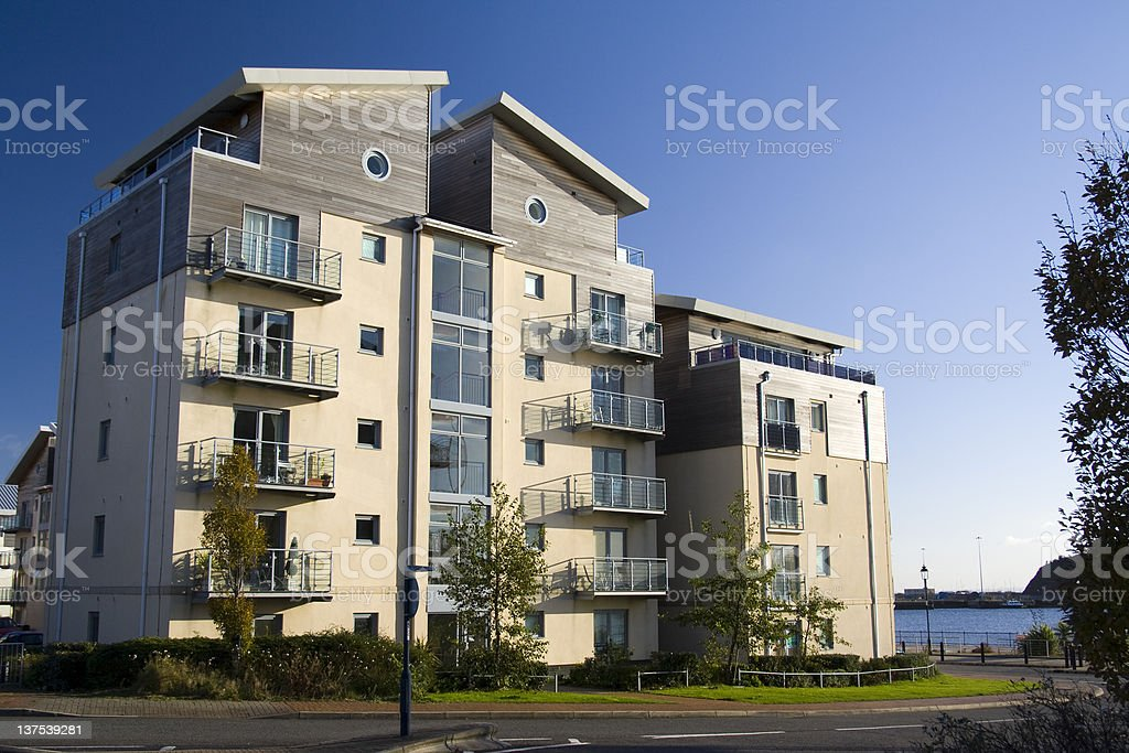 Modern apartment block royalty-free stock photo