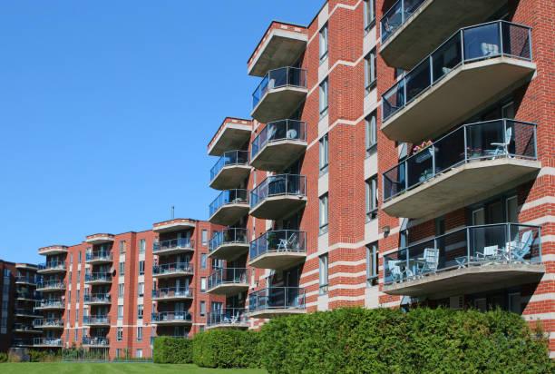 Modern Apartment Building Exteriors stock photo