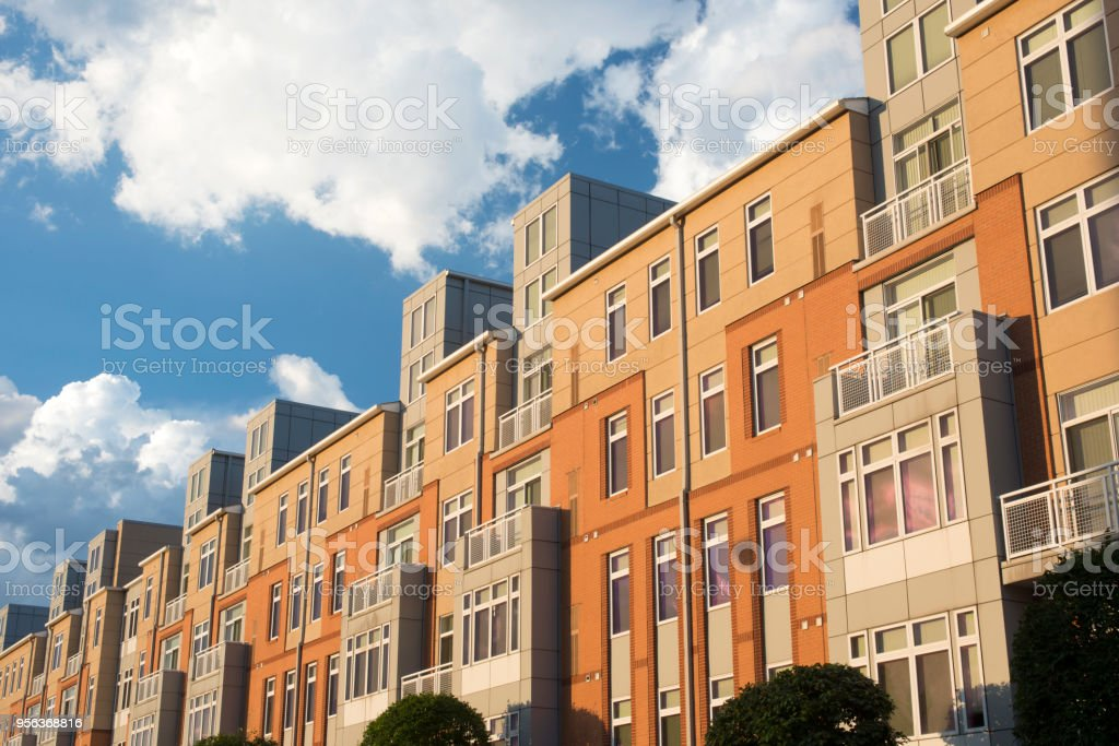 Modern apartment building in Providence stock photo