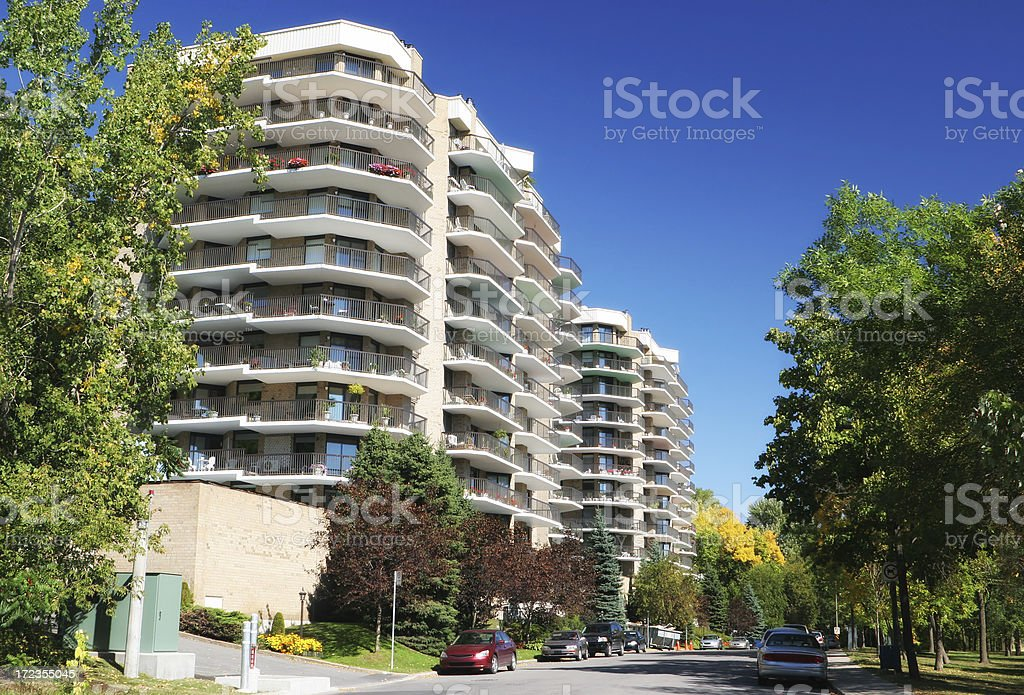 Modern Apartment Building Street royalty-free stock photo