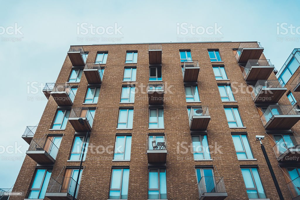 Modern Apartment Building With Balconies Stock Photo & More Pictures ...
