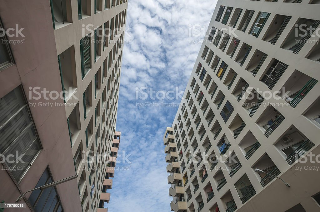 Modern apartment buildings and sky royalty-free stock photo