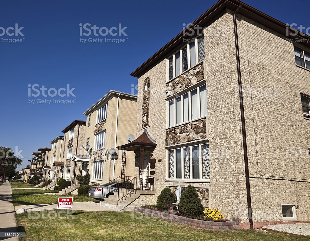Modern Apartment Buildings in Dunning, Chicago royalty-free stock photo