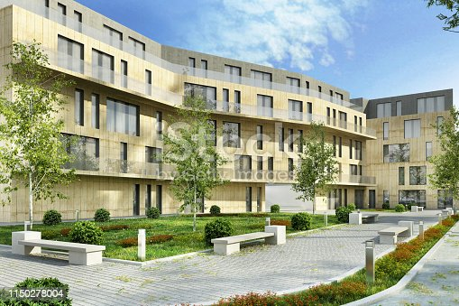 istock Modern apartment buildings in the city 1150278004