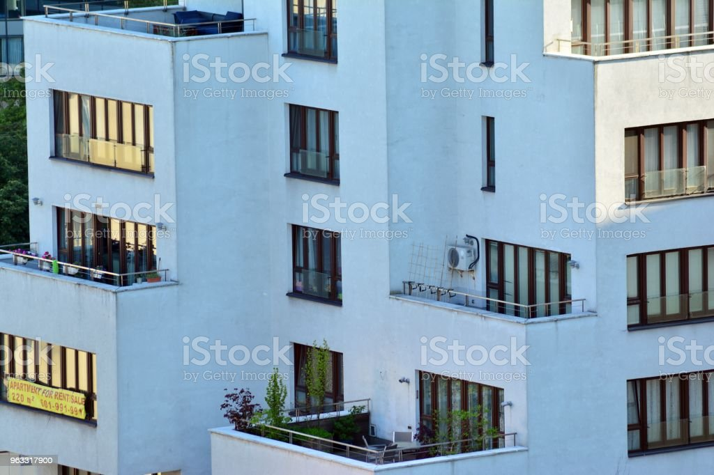 Modern Apartment Buildings On A Sunny Day With A Blue Sky Facade Of A  Modern Apartment Building Stock Photo - Download Image Now
