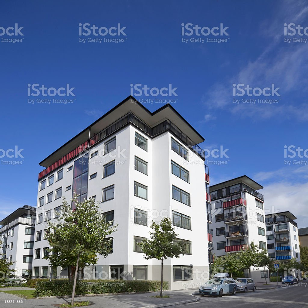 Modern apartment buildings bildbanksfoto