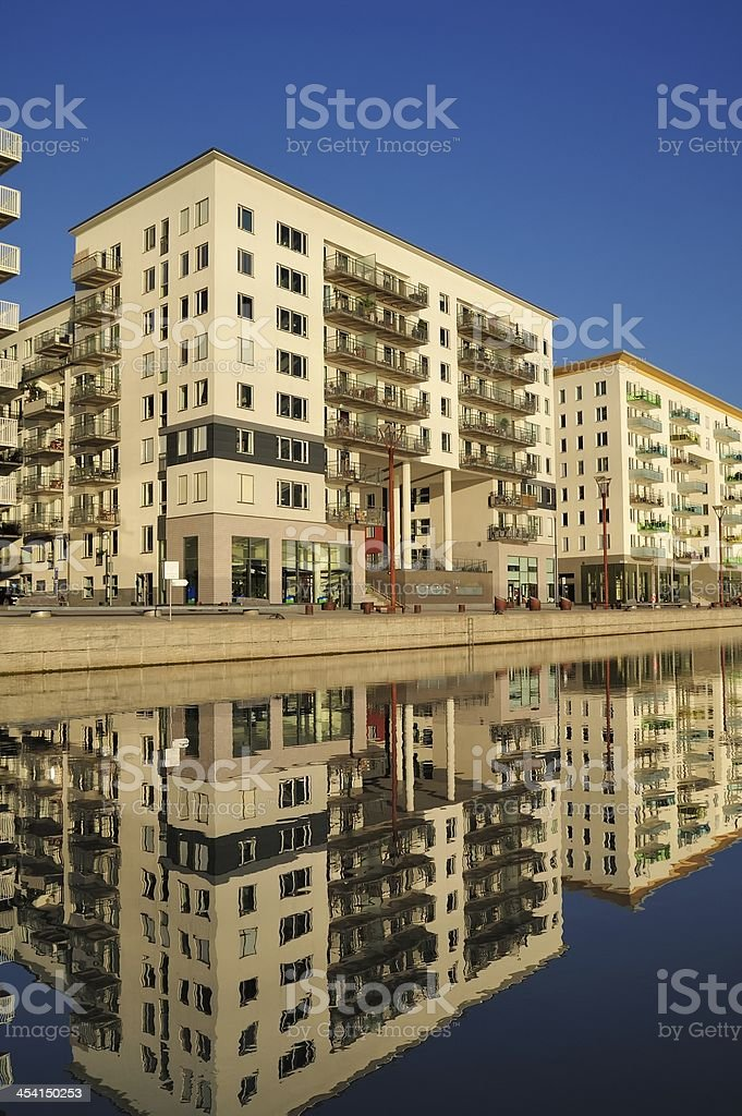Modern apartment buildings royalty-free stock photo