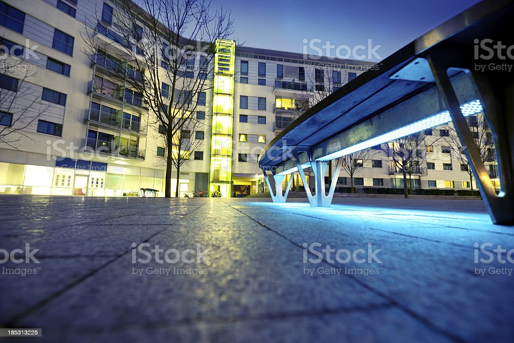 Modern apartment complex in London stock photo