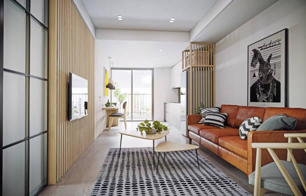 interior de diseño de Apartamento moderno. - foto de stock