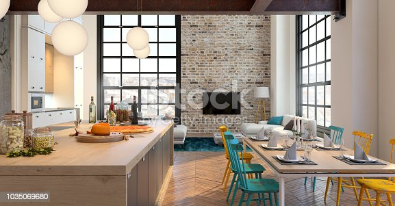 istock Modern apartment hipster interior 1035069680