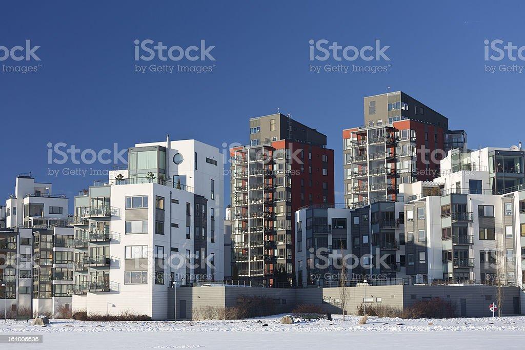 Modern apartment house. royalty-free stock photo