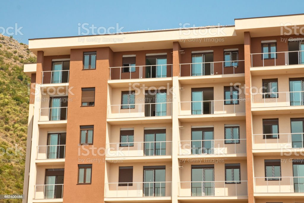 Modern apartment house stock photo