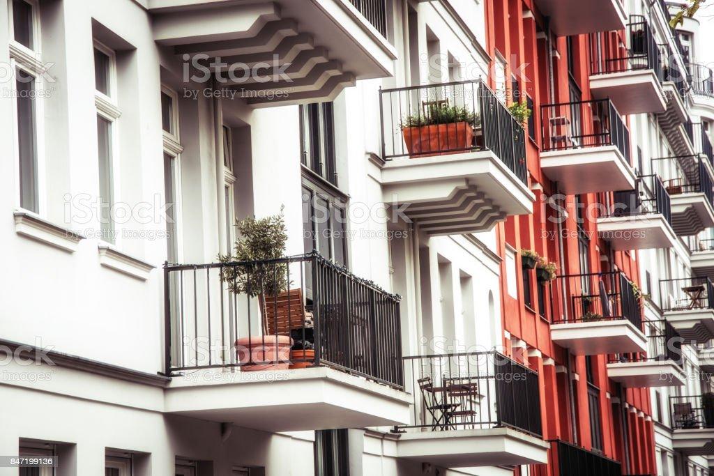 Moderno apartamento casas en Berlín - foto de stock