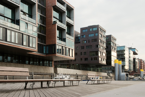 Modern Apartment Houses In the Waterfront, Hafencity, Hamburg, Germany