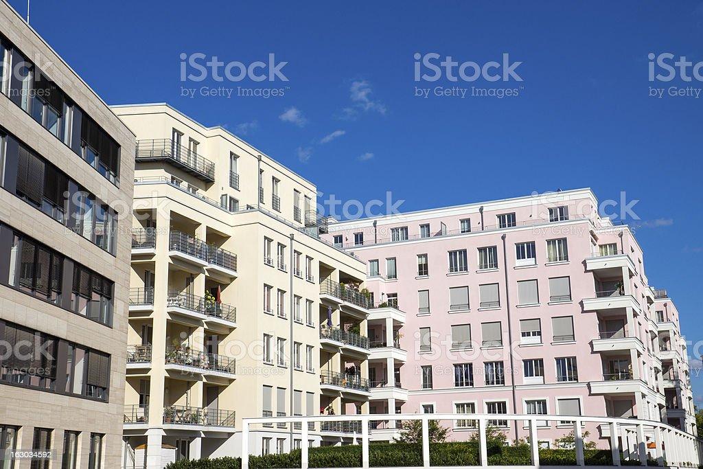 Modern apartment houses royalty-free stock photo