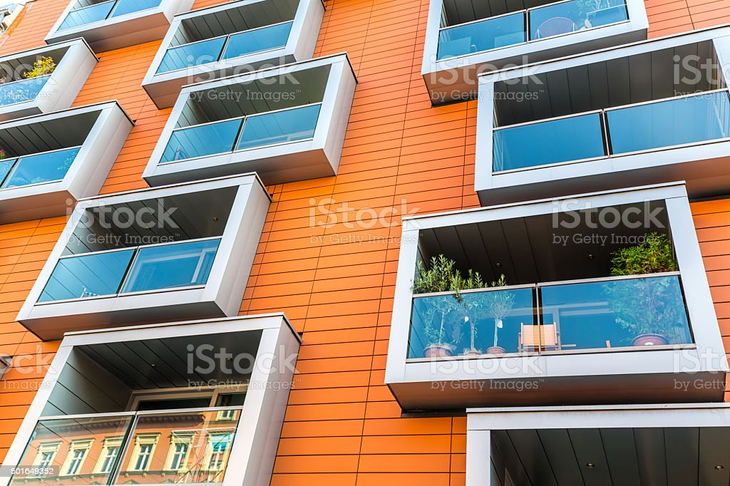 Modern Apartment Houses stock photo