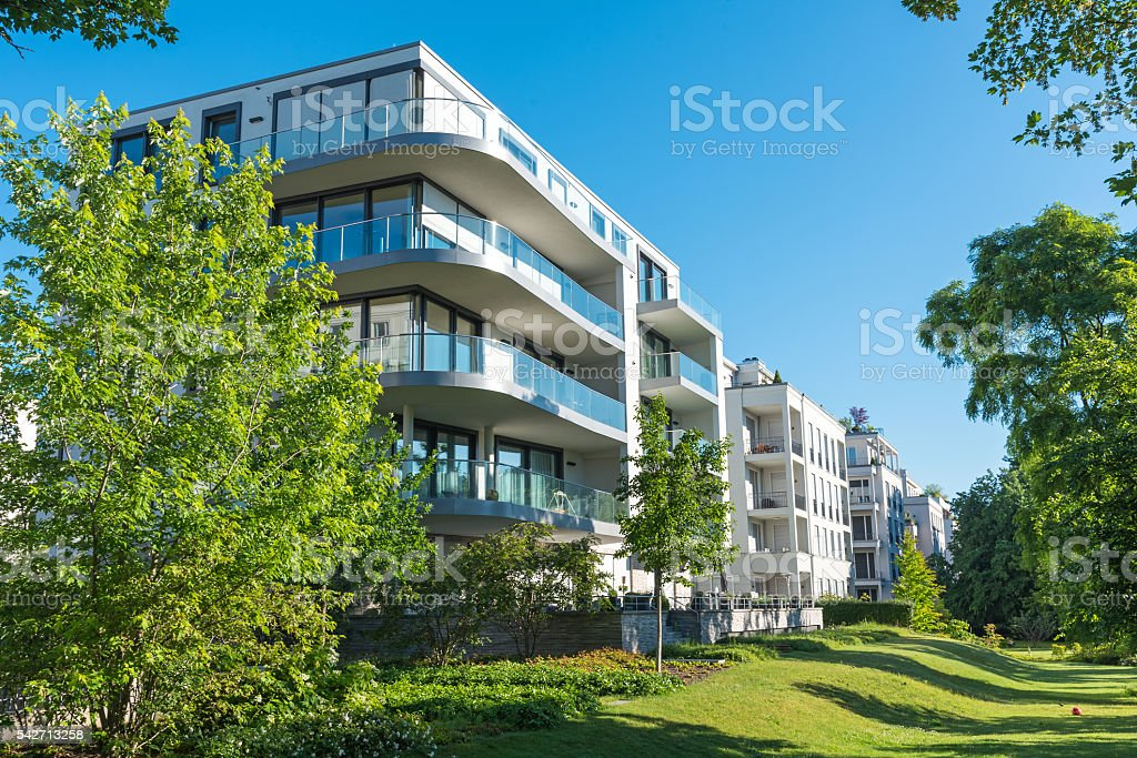 Modern apartment houses stock photo