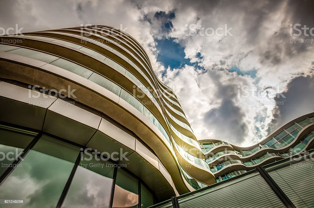 Modern apartment in London stock photo
