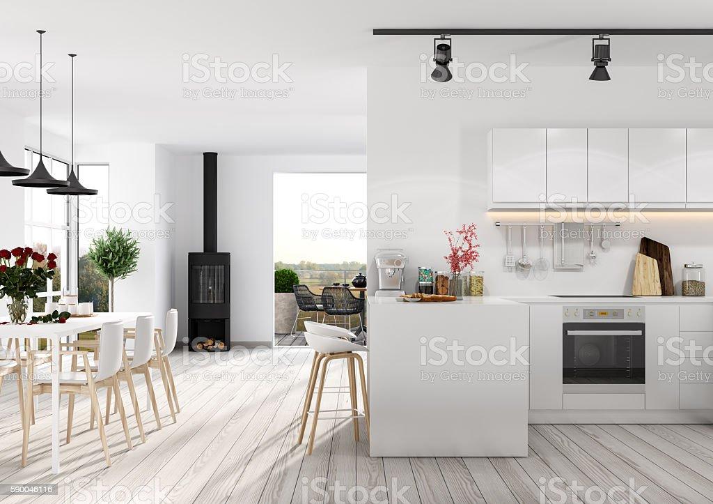 Moderno appartamento interno fotografie stock e altre immagini
