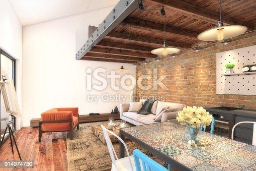924294300 istock photo Modern apartment interior 914974730