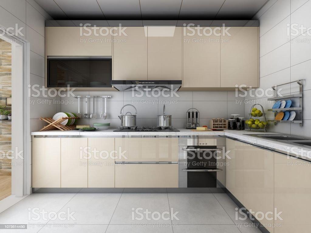 Foto De Apartamento Moderno Com Cozinha Limpa E Arrumada Todo Armarios E Varios Utensilios De Cozinha E Mais Fotos De Stock De Aconchegante Istock