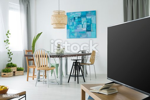 660325278istockphoto Modern apartment with tv 660325304