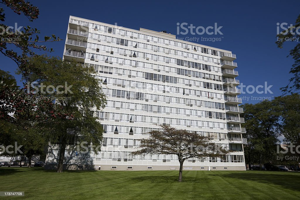 Modern Apartments in Chicago South Side royalty-free stock photo