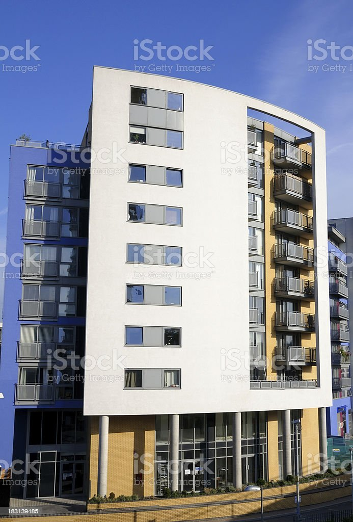Modern Apartments in London royalty-free stock photo