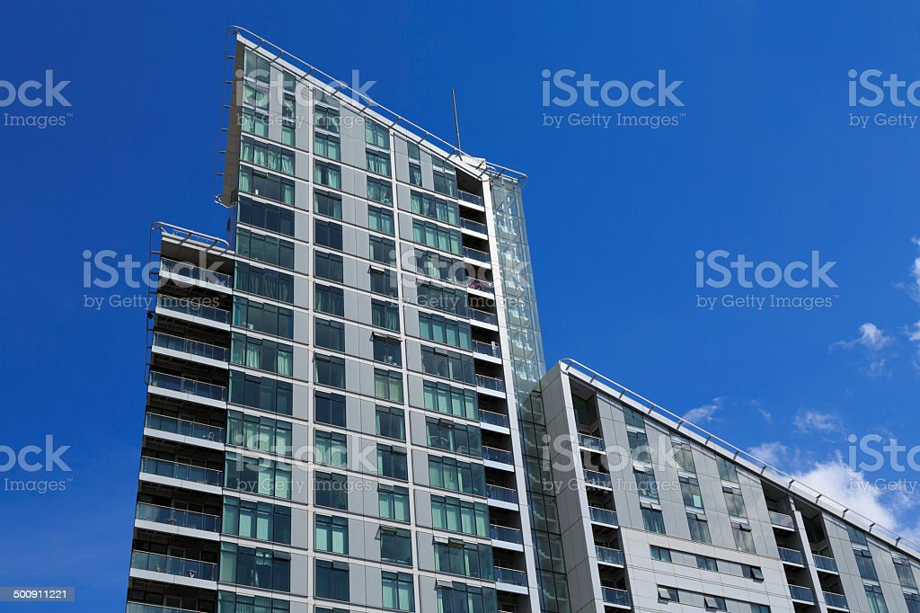 Modern apartments in the centre of Mancheste royalty-free stock photo