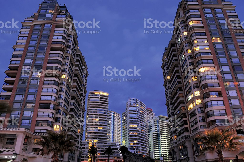Appartamenti moderni in Viña del Mar foto stock royalty-free