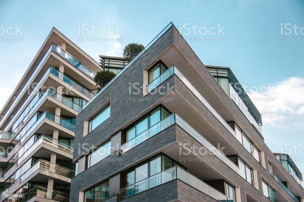 Moderno apartments foto de stock libre de derechos
