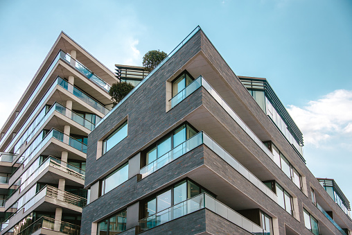 Exterior view of modern apartments