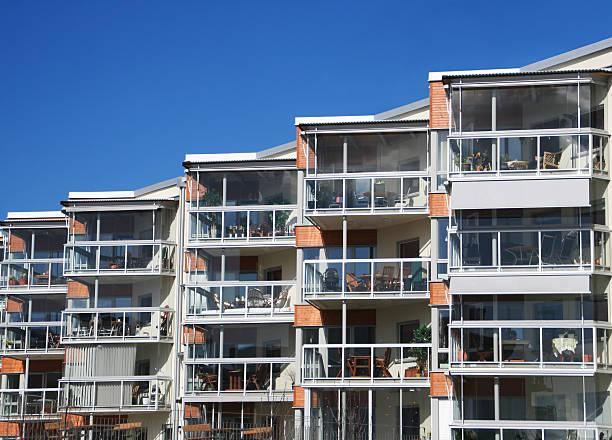 Modern apartments bildbanksfoto